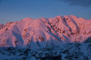 夕映えの立山連峰の写真素材 [FYI00481466]