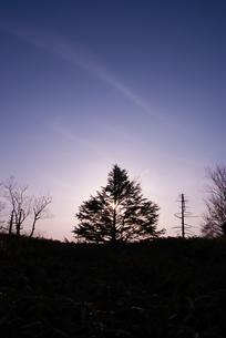夕暮れの山伏稜線の素材 [FYI00481608]