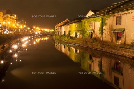 小樽市運河の夜景の素材 [FYI00481813]
