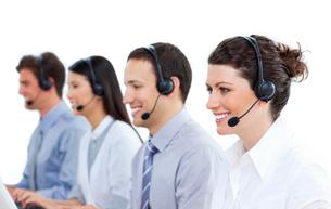 Confident business team workingの写真素材 [FYI00482203]