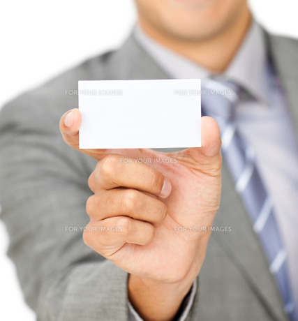 Focus on a white cardの写真素材 [FYI00482212]