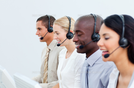 Business people working in a call centerの写真素材 [FYI00482231]
