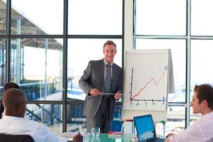 Mature businessman giving a presentationの写真素材 [FYI00482780]