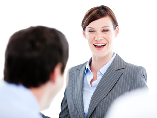 Business partners talking together in a officeの写真素材 [FYI00482898]