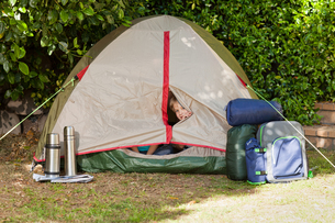 A tent in the gardenの素材 [FYI00483887]