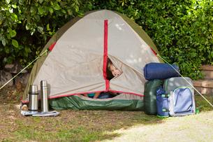 A tent in the gardenの写真素材 [FYI00483887]