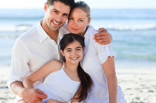 Lovely girl with her parentsの写真素材 [FYI00484129]