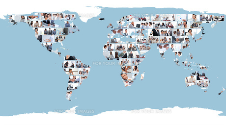 World map made of picturesの写真素材 [FYI00484669]