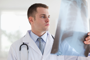 Doctor with xray photographの写真素材 [FYI00484741]