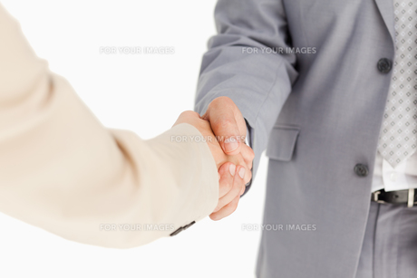 People in suit shaking handsの素材 [FYI00484988]
