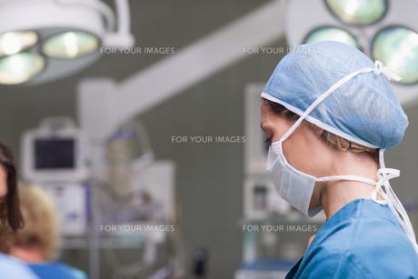 Nurse wearing a maskの写真素材 [FYI00485258]