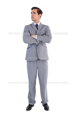 Serious businessman with arms crossedの写真素材 [FYI00485346]