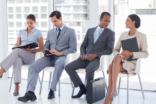 Business people sitting togetherの写真素材 [FYI00485385]