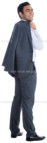 Smiling businessman standingの写真素材 [FYI00485789]