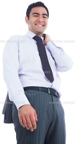 Smiling businessman standingの写真素材 [FYI00485794]