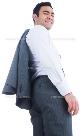 Smiling businessman standingの写真素材 [FYI00485796]