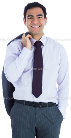 Smiling businessman standingの写真素材 [FYI00485798]