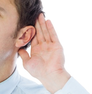 Listening businessmanの素材 [FYI00485900]