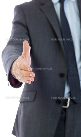 Businessman reaching hand outの写真素材 [FYI00485917]