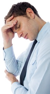 Businessman with a headacheの写真素材 [FYI00485918]