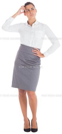 Focused businesswomanの素材 [FYI00485931]