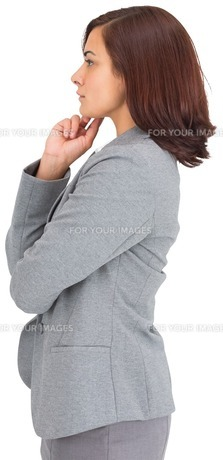 Concentrating businesswomanの素材 [FYI00485939]
