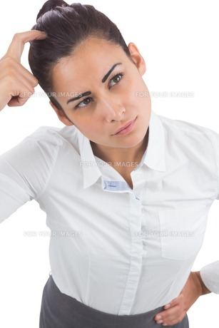 Focused businesswomanの素材 [FYI00485945]