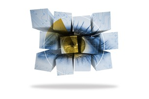 Eye on abstract screenの素材 [FYI00485946]