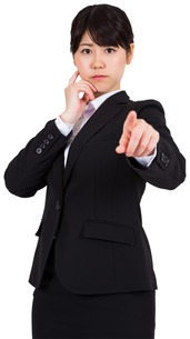 Businesswoman pointingの写真素材 [FYI00486000]