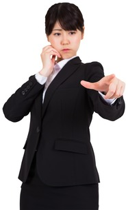 Businesswoman pointingの写真素材 [FYI00486006]