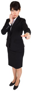 Businesswoman pointingの写真素材 [FYI00486007]