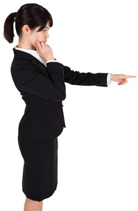 Businesswoman pointingの写真素材 [FYI00486016]
