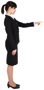Businesswoman pointingの素材 [FYI00486027]