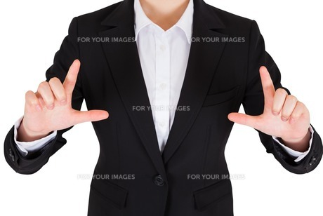 Businesswoman pointingの写真素材 [FYI00486032]