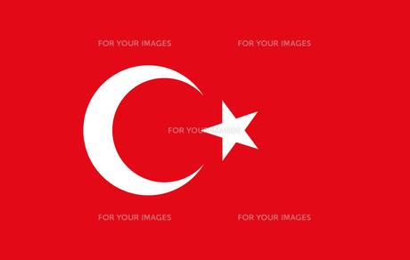 Turkey flagの写真素材 [FYI00486564]