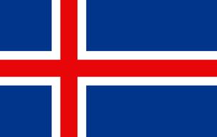 Iceland flagの素材 [FYI00486581]