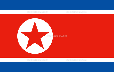 North Korea flagの素材 [FYI00486588]