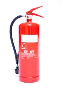 Large foam fire extinguisherの写真素材 [FYI00486592]