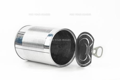 Horizontal empty tinの写真素材 [FYI00486654]