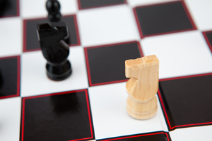 Chess pieces on the boardの写真素材 [FYI00486677]