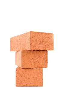 Stack of three clay bricksの写真素材 [FYI00486683]