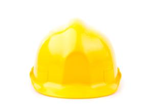 Yellow hard hatの写真素材 [FYI00486704]