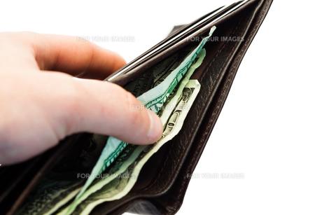 Hand holding purseの写真素材 [FYI00486830]