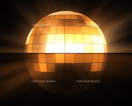 Orange disco ballの写真素材 [FYI00486835]