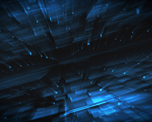 Abstract blue squaresの写真素材 [FYI00486837]