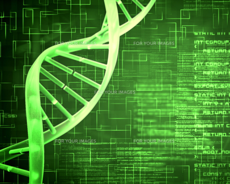 Green DNA Helix background squaresの素材 [FYI00486842]