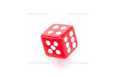 Red dice movingの写真素材 [FYI00486878]
