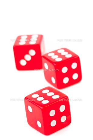 Three dicesの写真素材 [FYI00486899]