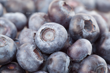 Close-up of blueberriesの写真素材 [FYI00486907]
