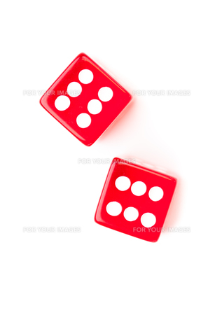 Dices designating a six numberの写真素材 [FYI00486952]